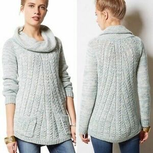 Anthropologie Guinevere Cable knit sweater
